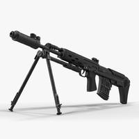 c4d bullpup sniper rifle dragunov