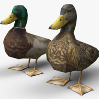 3ds low-poly ducks