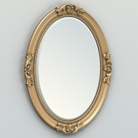 carved oval mirror frame max