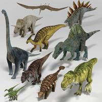 3d dinosaur pack model