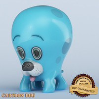 3d model dog cartoon