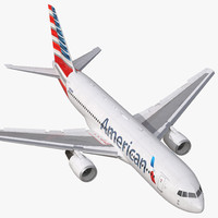 boeing 767 200 american airlines 3d model