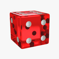 3d model dice modelled