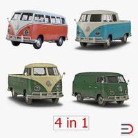 3d volkswagen type 2 simple