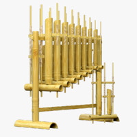 3d angklung musical instrument model