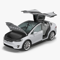 Tesla Model X Rigged