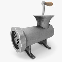 old fashion meat grinder 3d model