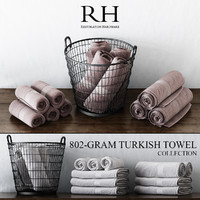 3d max 802-gram turkish towel collections