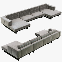 3d restoration hardware durrell leather
