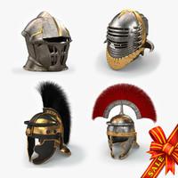 obj medieval helmets