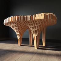 parametric table mushroom 3d max
