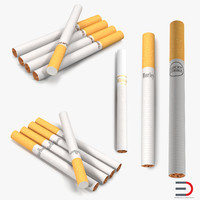 cigarettes set camel 3d model