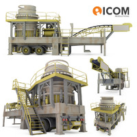 3d industrial mobile crushing plant model
