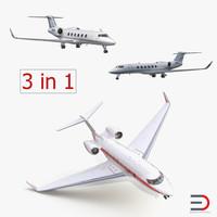 3d model gulfstream business jets