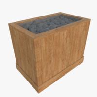 3d sauna furnace model