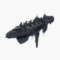 3d large space ship model
