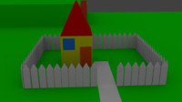 3d model simple cartoonish house