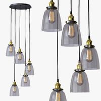 loft chandelier 3d model