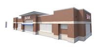 3d bank pylon sign model