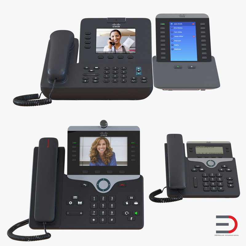 Cisco IP Phones Collection 3d models 01.jpg