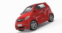 generic compact car interior 3d max