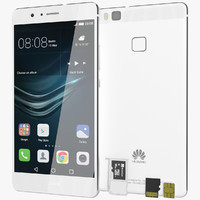 Huawei P9 Lite White with SD/SIM Card Tray