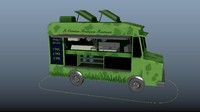 3d model rigged food truck