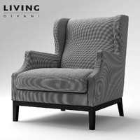 divan chauffeuse living 3d model