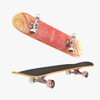 3d skateboard deck