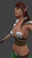 elf woman 3d model