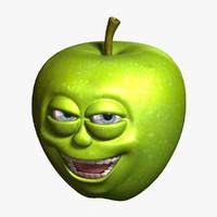 3d apple cartoon 4