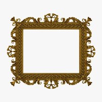 3d baroque picture frame