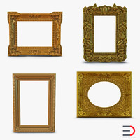 3d model of baroque picture frames 2