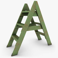 max realistic antique ladder 02