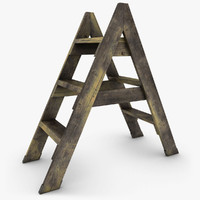 realistic antique ladder 02 3d max