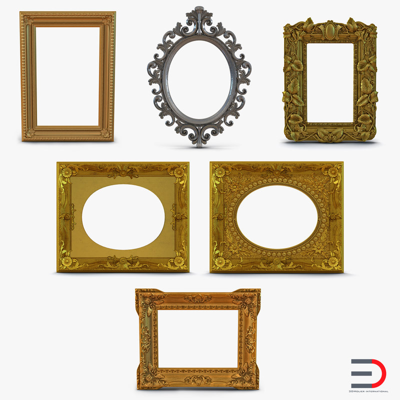 Baroque Picture Frames Collection 3d models 01.jpg