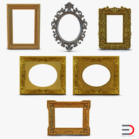 3ds baroque picture frames