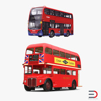 3d model london buses bus