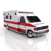 3d model ambulance car