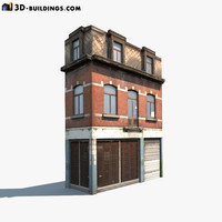 Apartment House #43 Low Poly 3d Model