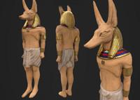 anubis egyptian statue 3d model