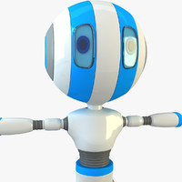 3d robot modelled model