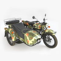 sidecar ural 3d model