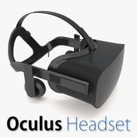 oculus rift headset 3d model