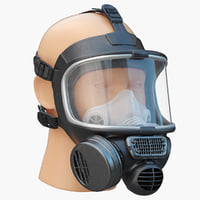 3d model safety gasmask