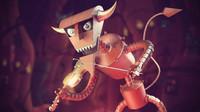 robot devil 3d model