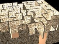 3d maze model