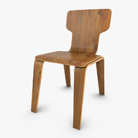 3d max plywood chair