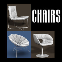 chair interiors 3d obj