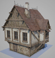 medieval house tudor 3d model